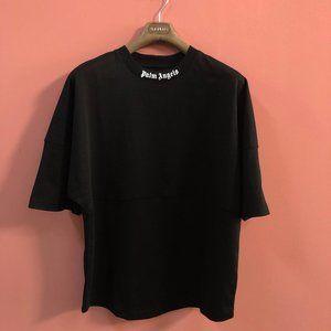 Palm Angels Men Over Size Black T-Shirt